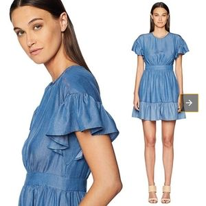 Kate Spade NY Chambray Dress With Flutter sleeve